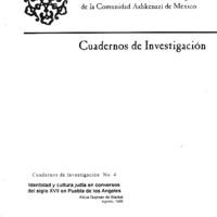 Identidad y cultura judía en conversos del siglo XVII  en Puebla de los Ángeles  <br />