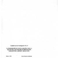 La Inquisición  en la Nueva España vista a través de los ojos de un procesado