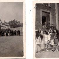 Dos fotografías de posibles amistades de Danielle y Ariele Wolfowitz en un colegio de la ciudad de México.